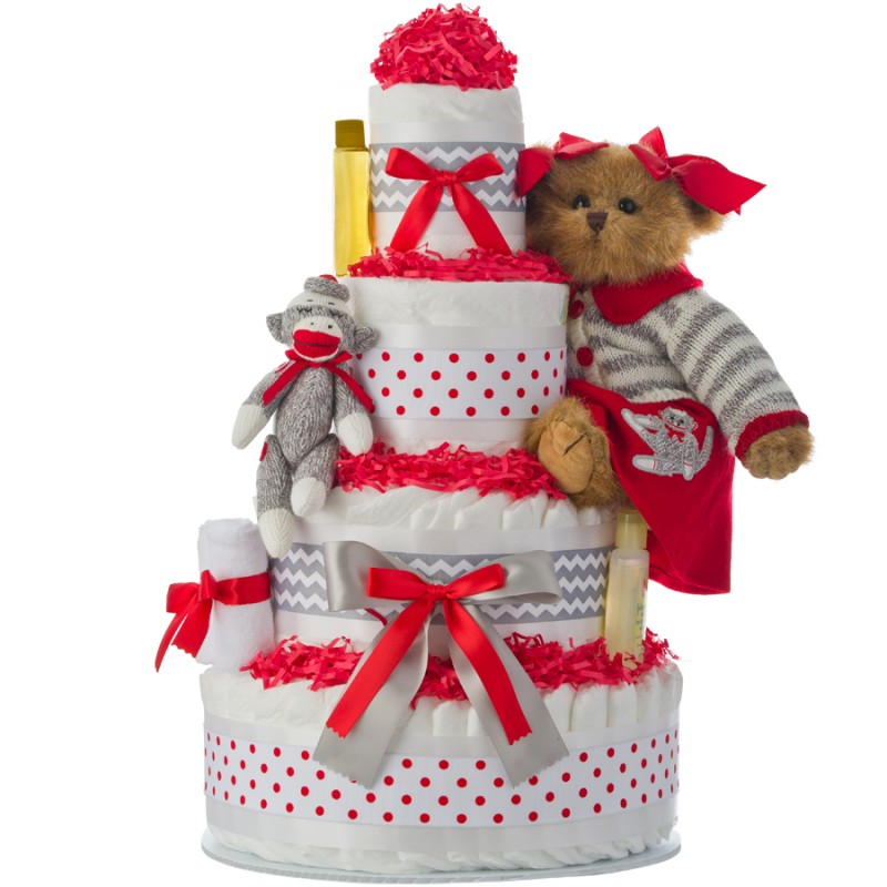 Cindy Socks Holiday Diaper Cake