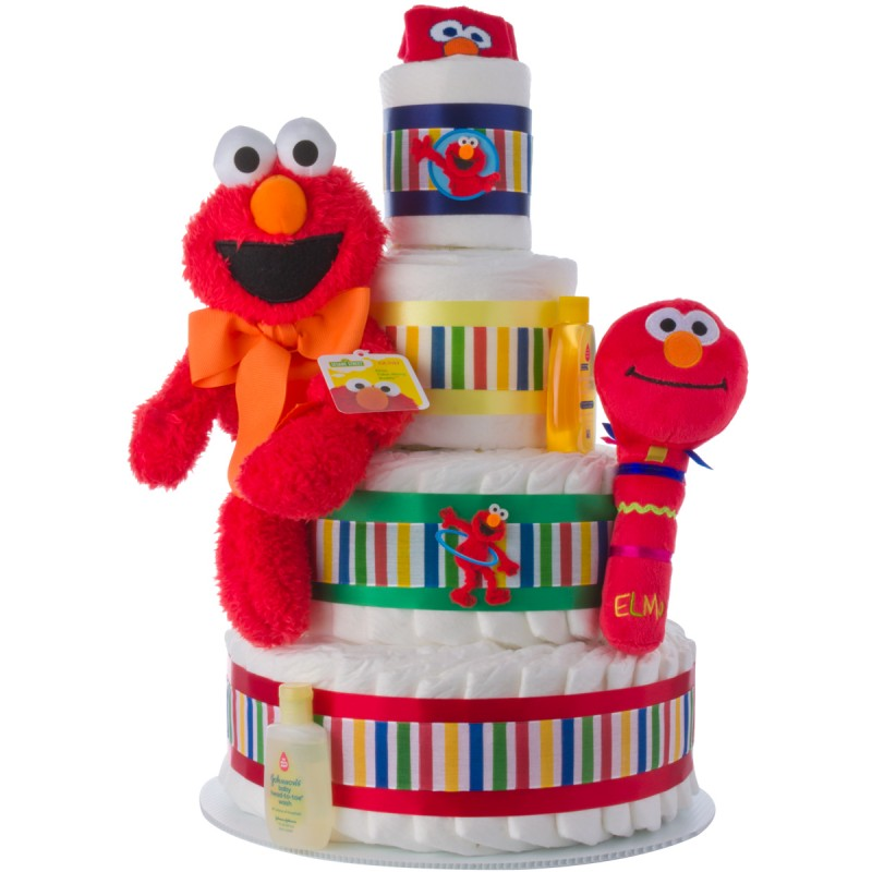 Elmo 4 Tier Diaper Cake