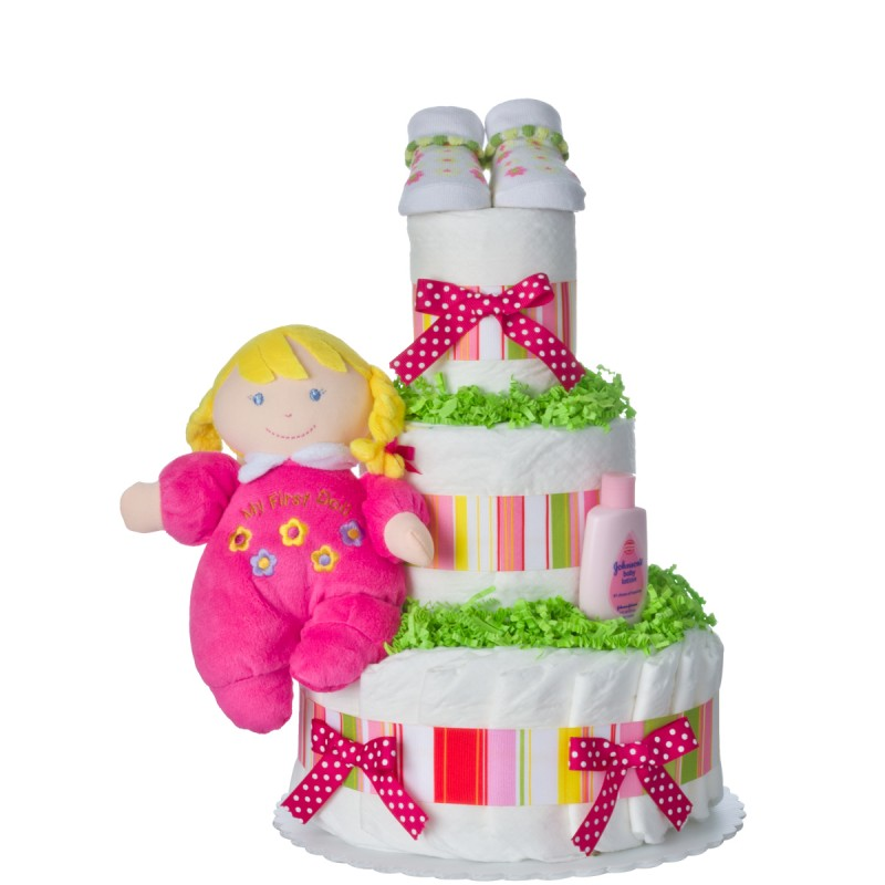 My First Doll 3 Tier Diaper Cake