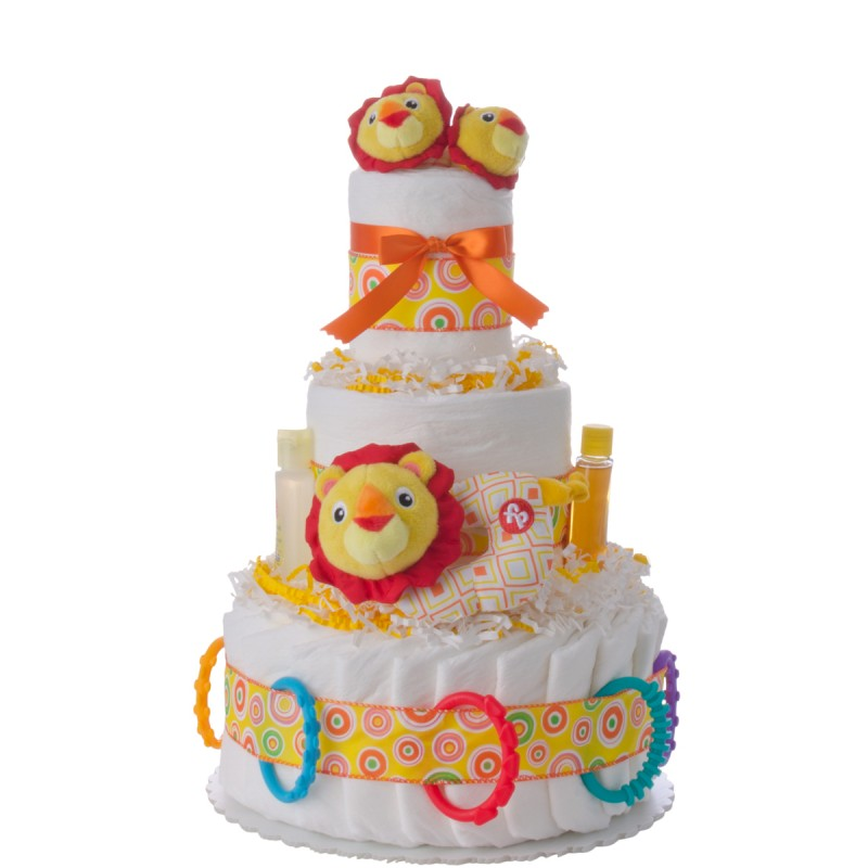 Fun Time Lion Diaper Cake