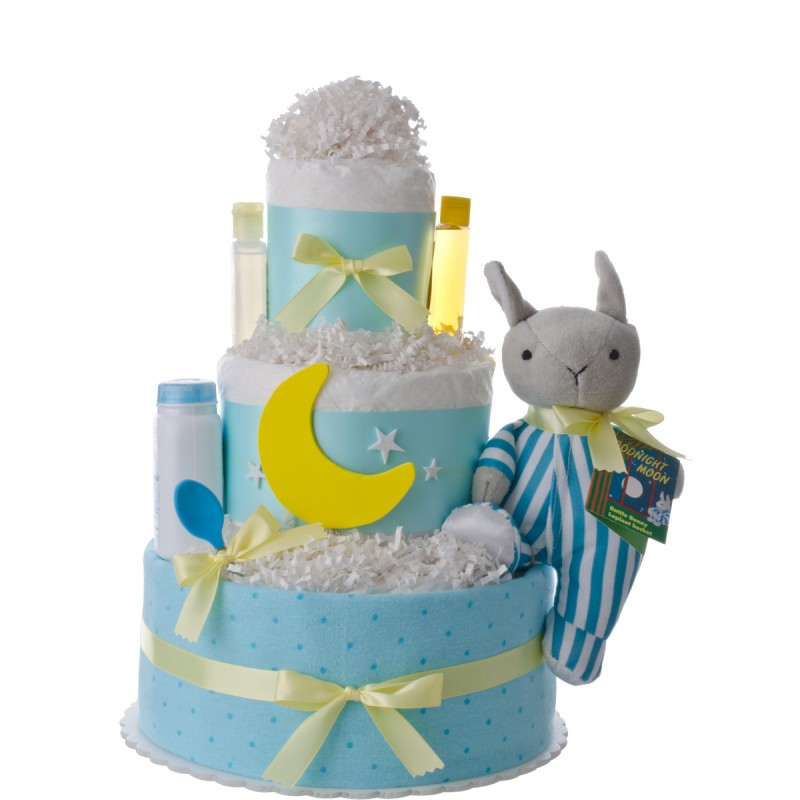 Goodnight Moon Baby Shower Diaper Cake