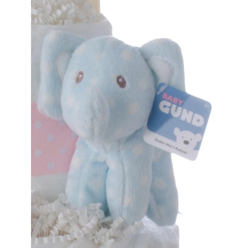 Gund Lolly Blue White Dots Elephant Plush Toy