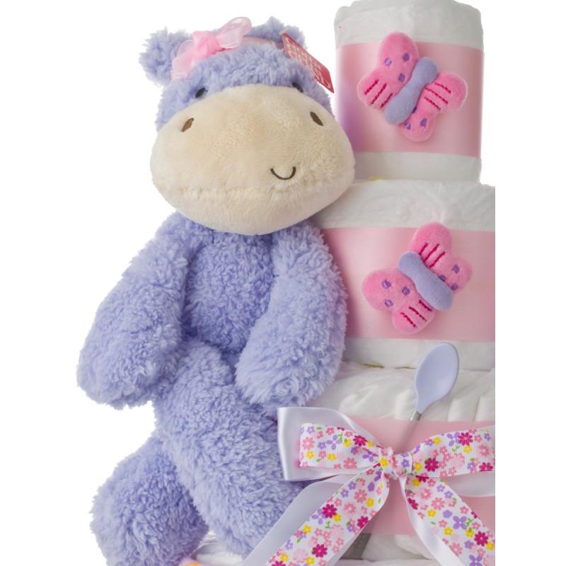 Gund Fuzzy Purple Hippo Plush Toy