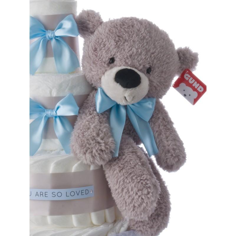Gund Gray Plush Teddy Bear