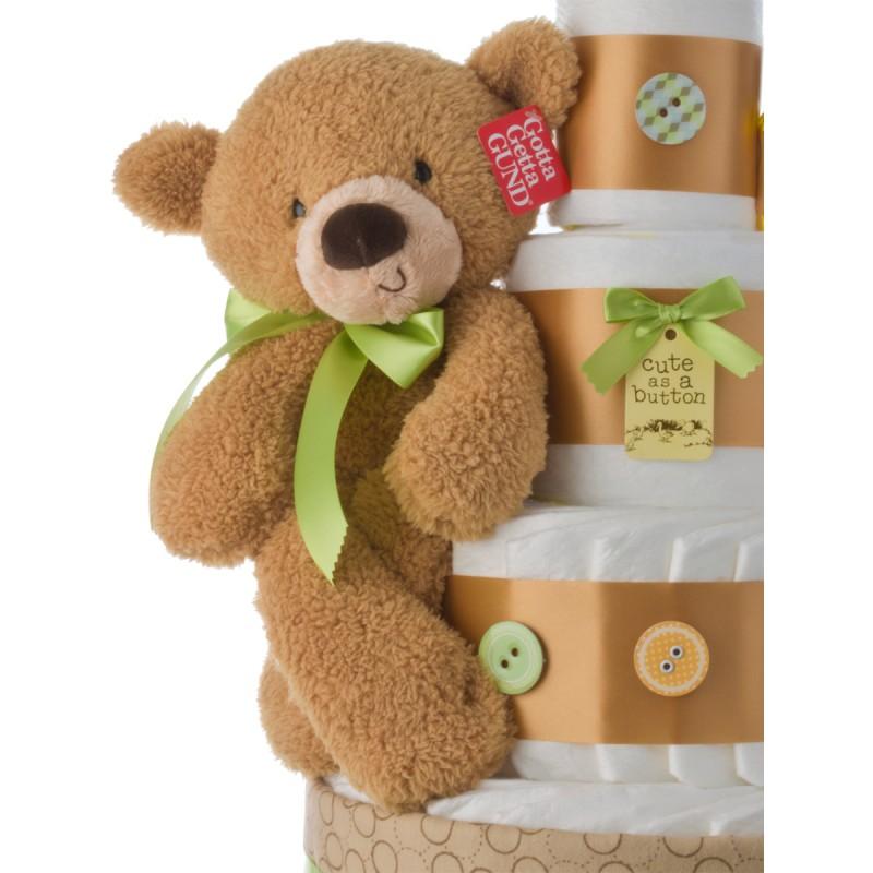 Fuzzy Brown Bear by Gund