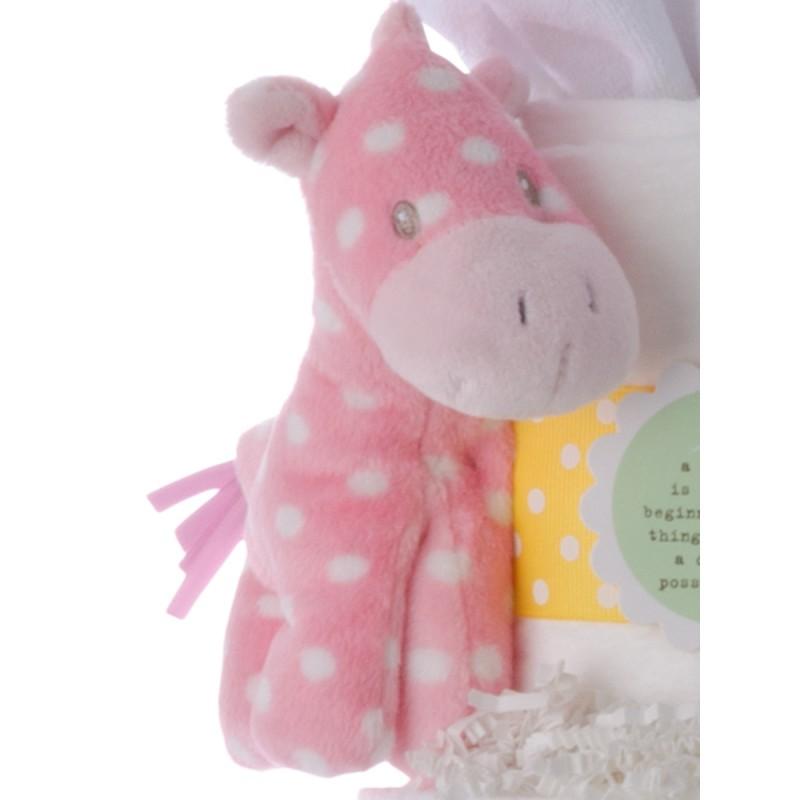 Gund Lolly Pink White Dots Pony Plush Toy