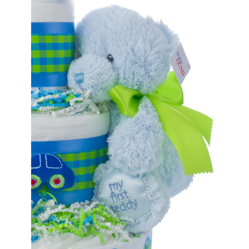 Gund My First Teddy Blue Plush Baby Toy