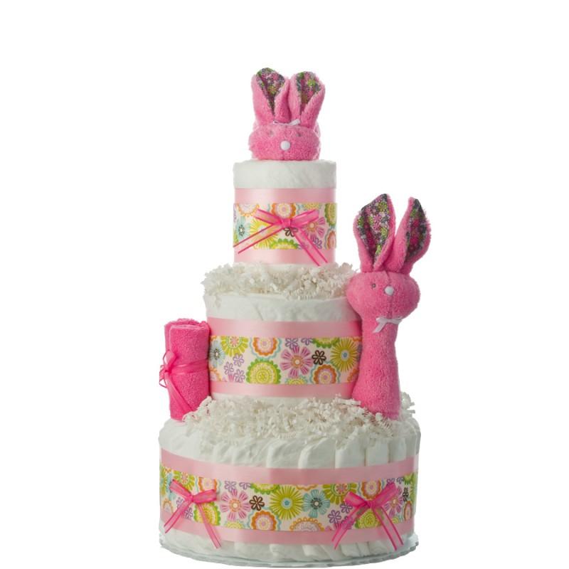 Hippity Hop Bunny Diaper Cake
