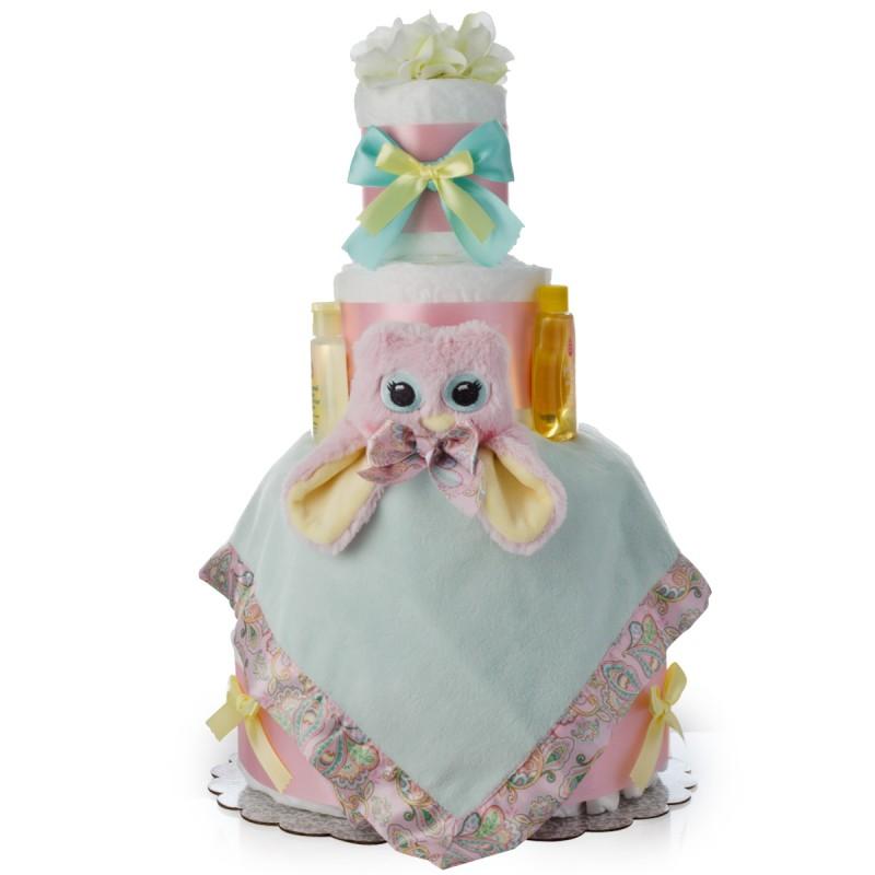Hoo Loves You Owl Diaper Cake