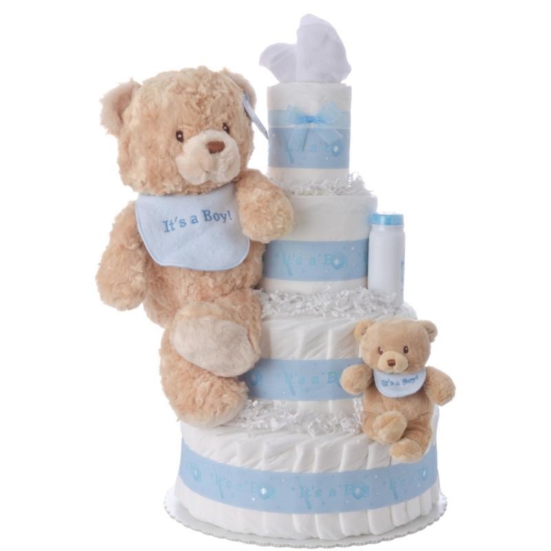 It's A Boy Baby Diaper Cake