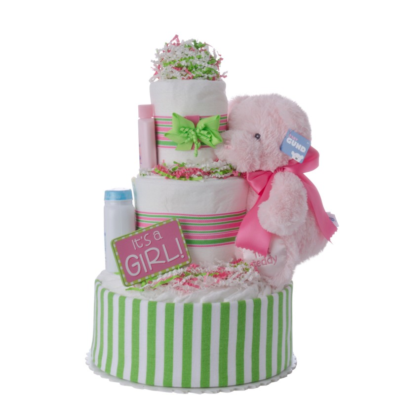It's A Girl Baby Diaper Cake