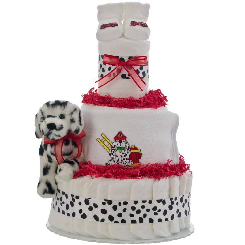 Lil Firefighter 3 Tier Diaper Cake