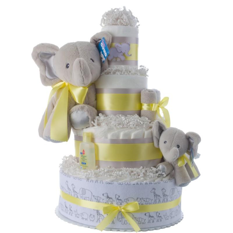 Lil' Elephant Baby Shower Diaper Cake