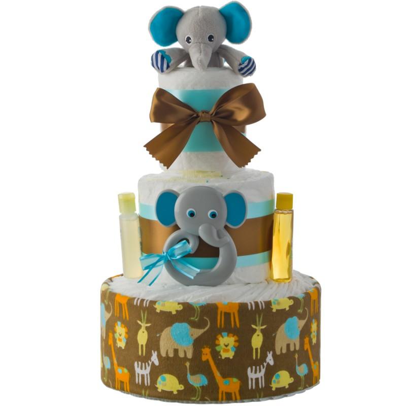 Lil' Elephant Friend 3 Tier Diaper Cake