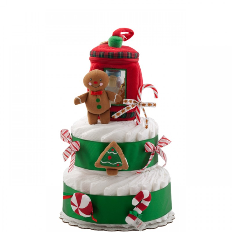 Holiday Gingerbread Diaper Cake