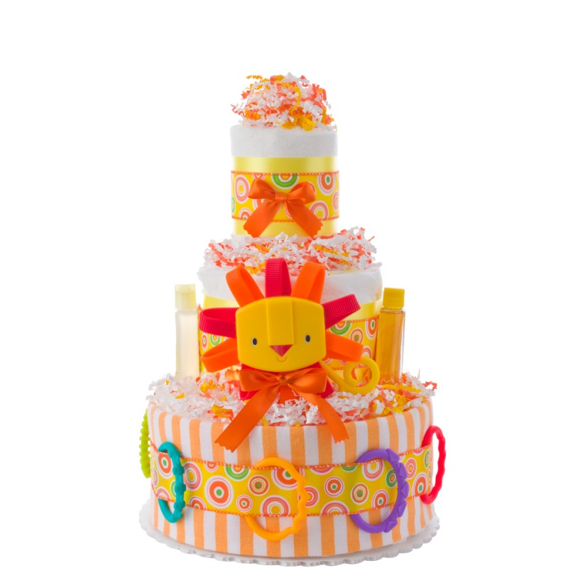 Lil' Lion Diaper Cake by Lil Baby Cakes