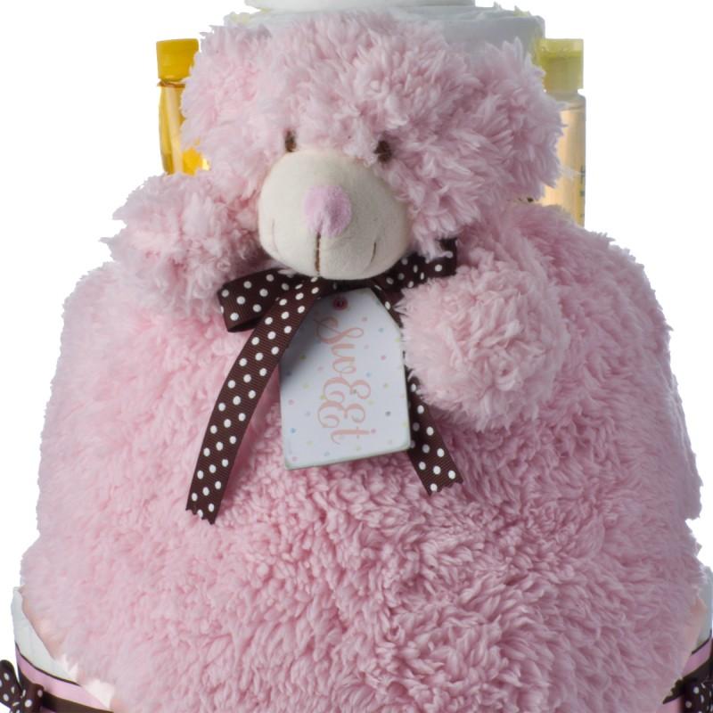 Pink Bear Plush Blankie