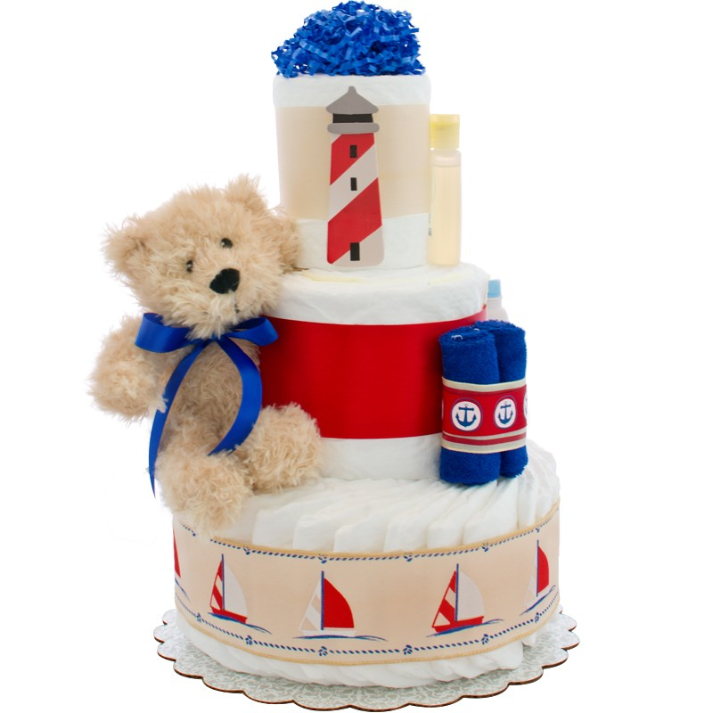 Lil' Sailor 3 Tier Diaper Cake