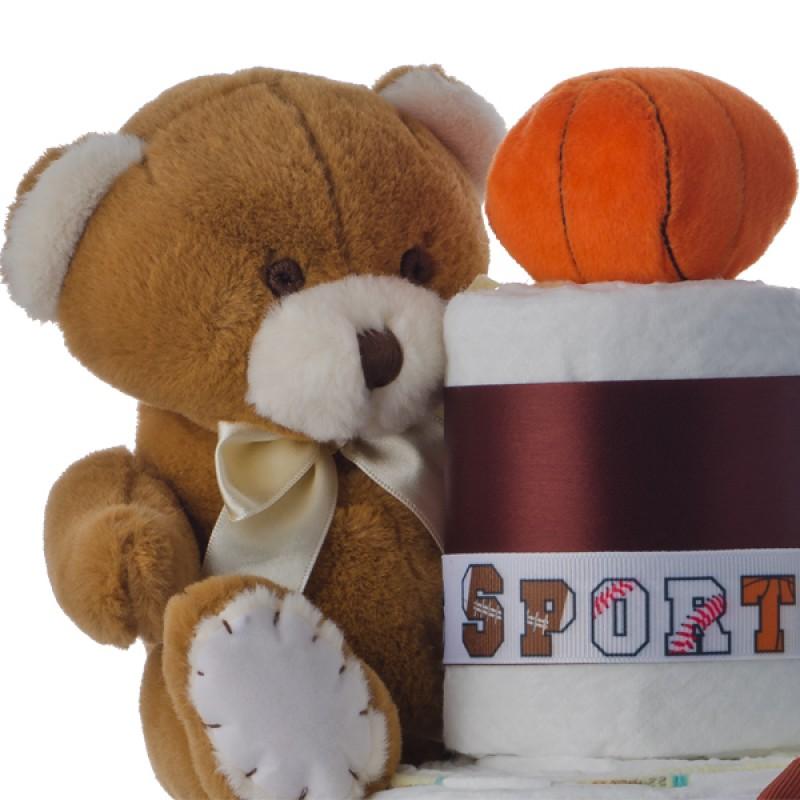 Plush Bear with Basketball
