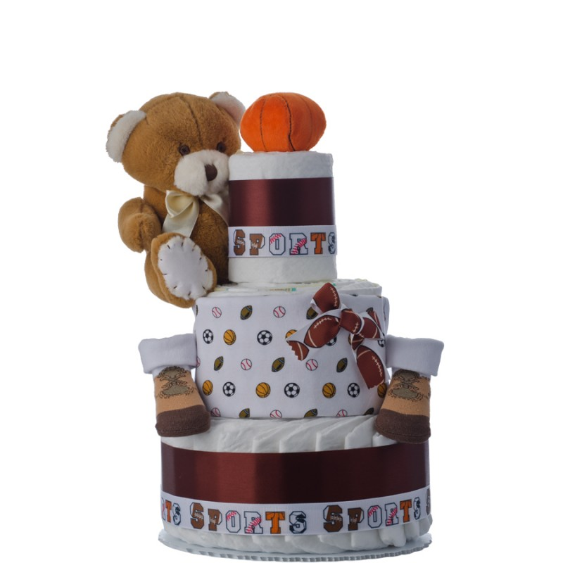 Lil Sports Star 3 Tier Diaper Cake
