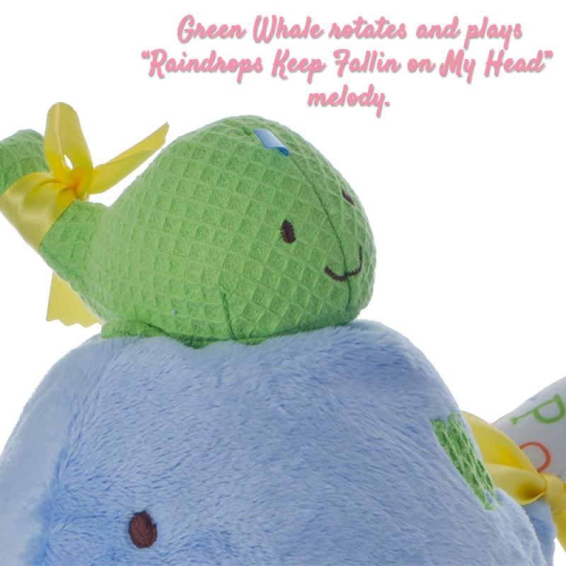 Small Green Whale Plush