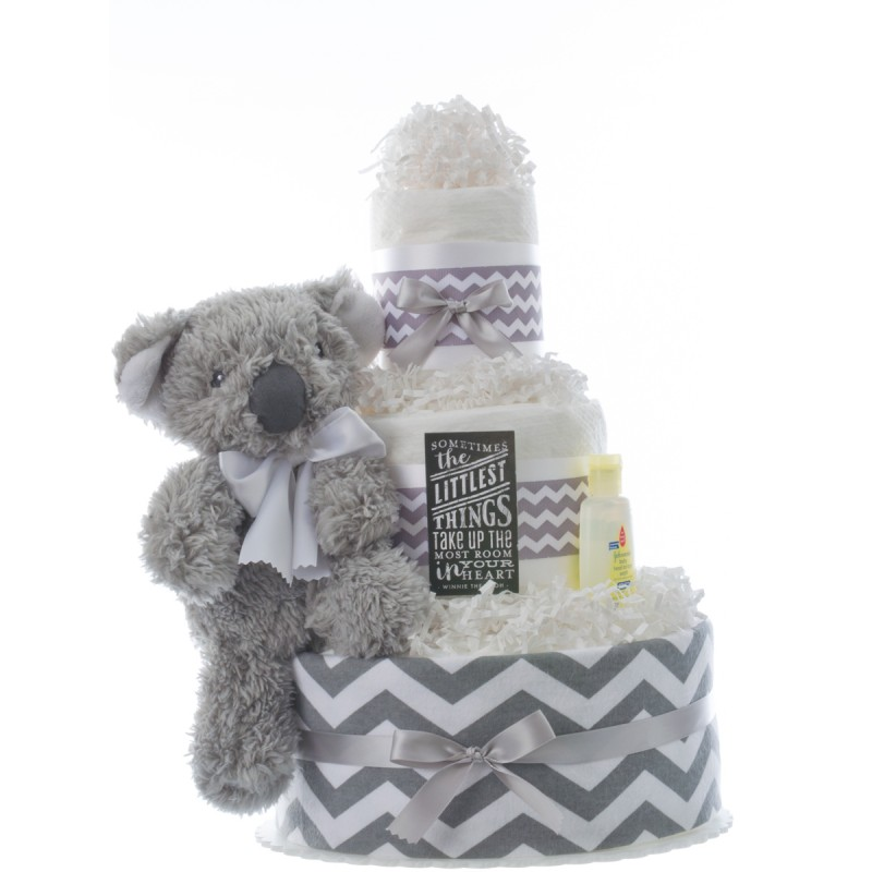 Littlest Thing Diaper Cake for Boys by Lil' Baby Cakes