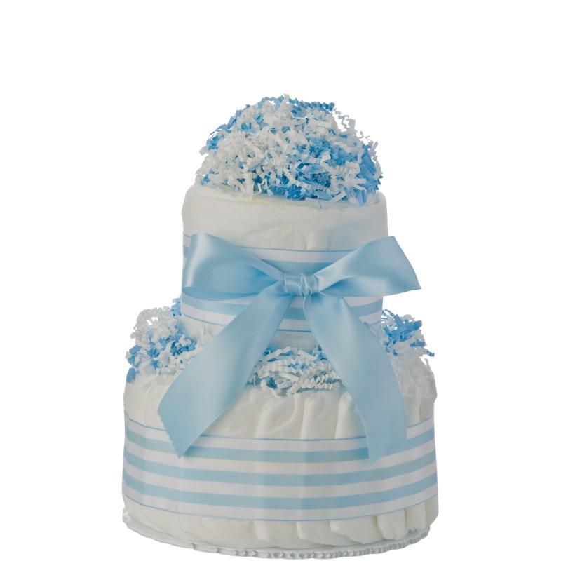 Mini Tickled Blue Diaper Cake