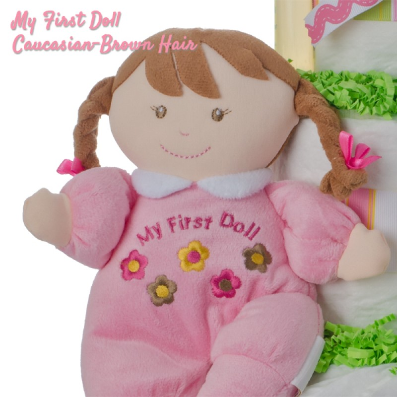 My First Doll Caucasian with Brown Hair