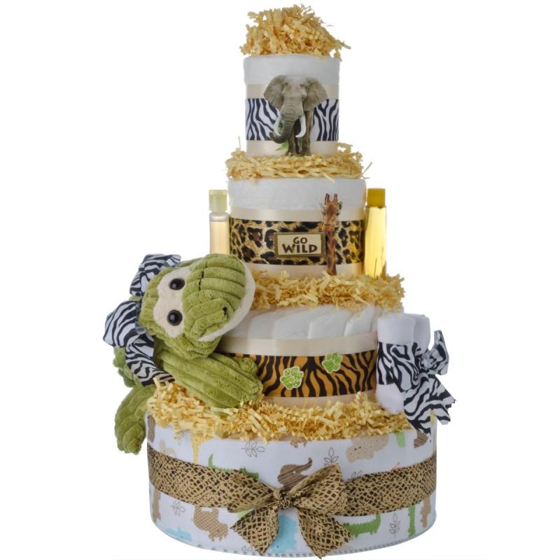 My Jungle Friends 4 tier Diaper Cake