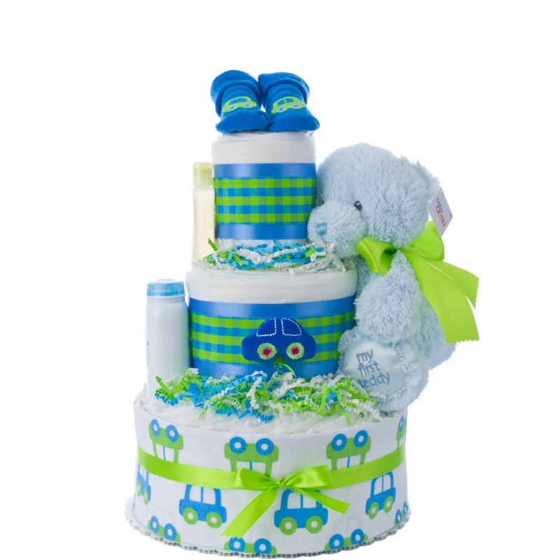 My Lil' Car Boy's Diaper Cake