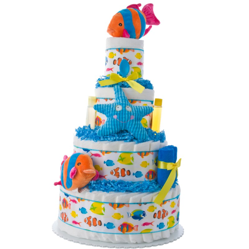 My Sea Friends Baby Diaper Cake