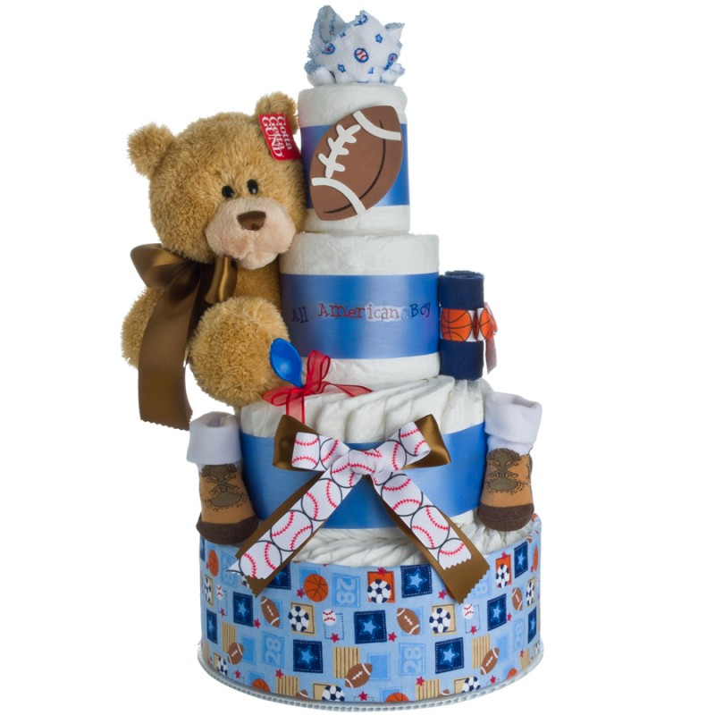My Lil' Sport Diaper Cake by Lil' Baby Cakes