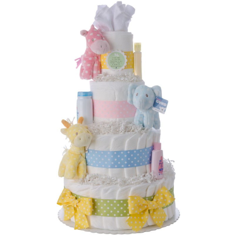Nursery Friends Baby Diaper Cake by Lil Baby Cakes