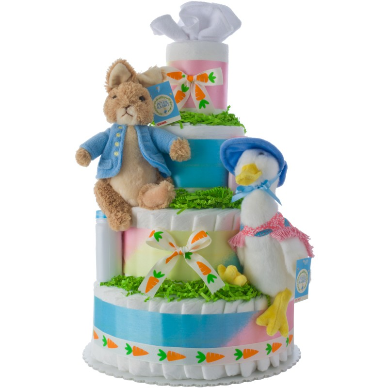 Peter Rabbit Baby Diaper Cake