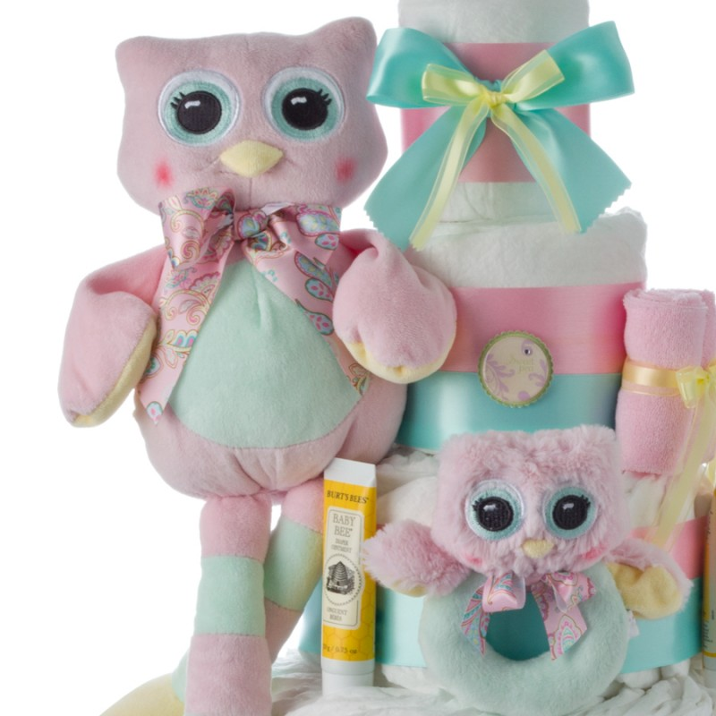 Owl Plush Toy with Rattle