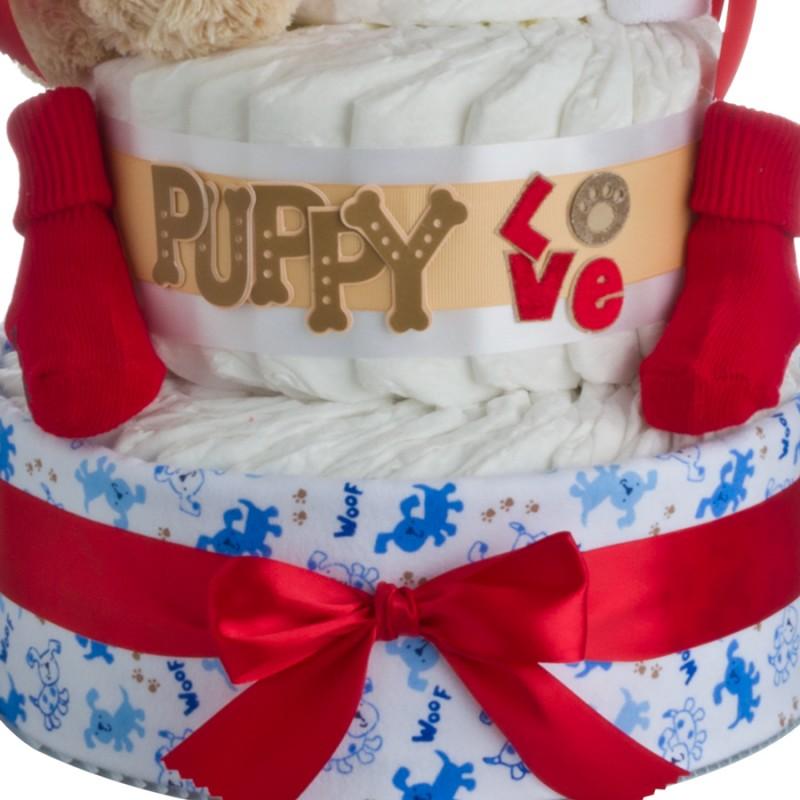 Puppy Love Diaper Cake Lower