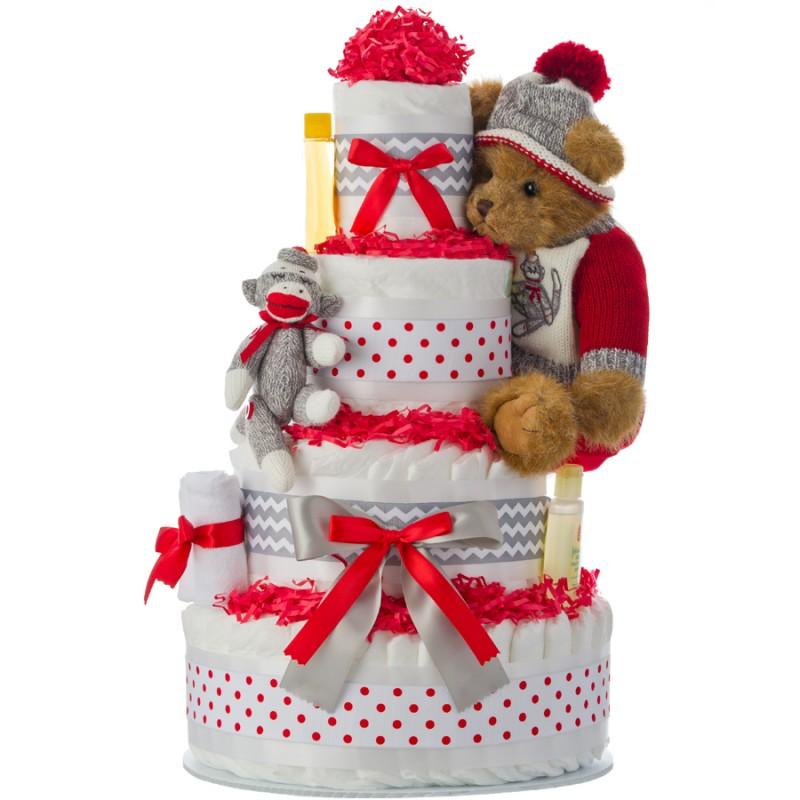 Sammy Socks Diaper Cake
