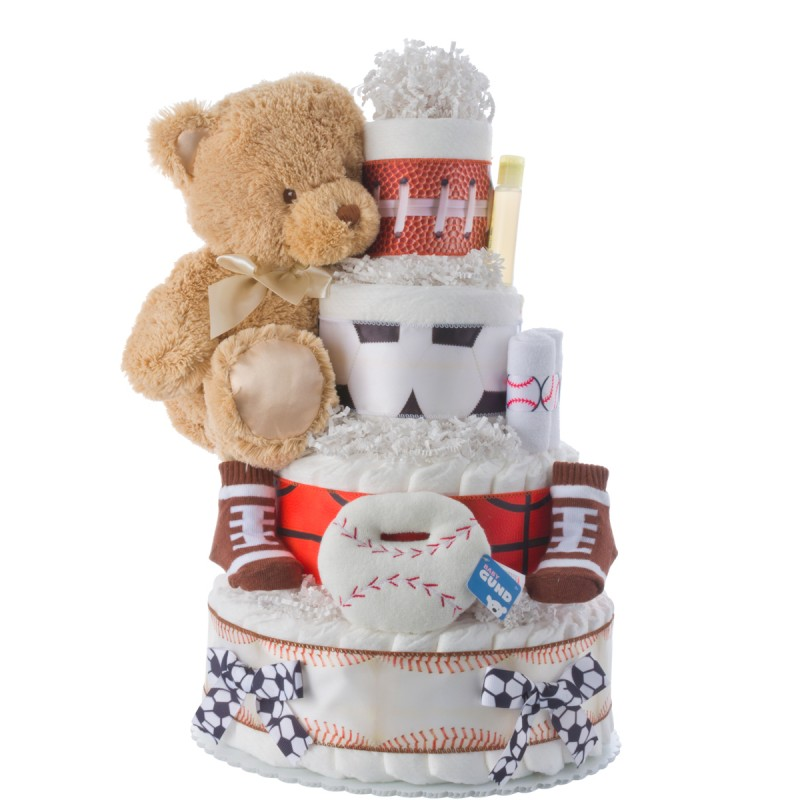 Lil' Athlete Sports Theme Diaper Cake