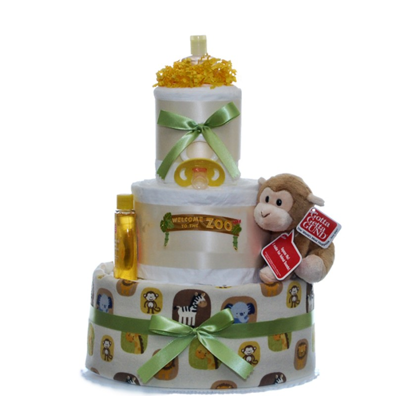 Welcome To The Zoo 3 Tier Diaper Cake