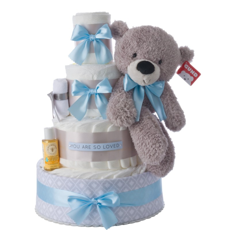 You Are So Loved Diaper Cake by Lil' Baby Cakes