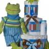 blue frog plush toy